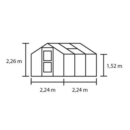 Tuinkas Compact 50, Polycarbonaat, antractiet