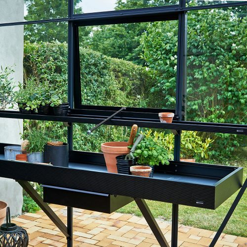 Kweekgoot Juliana 213x14cm, zwart