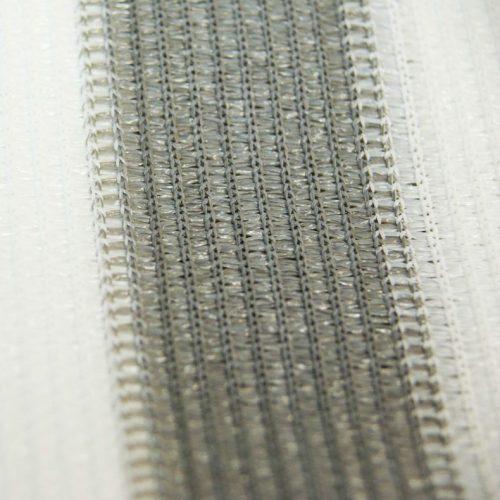 Balkondoek grijs/wit