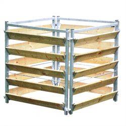 Compostbak hout/metaal 100 x 100 x 100cm