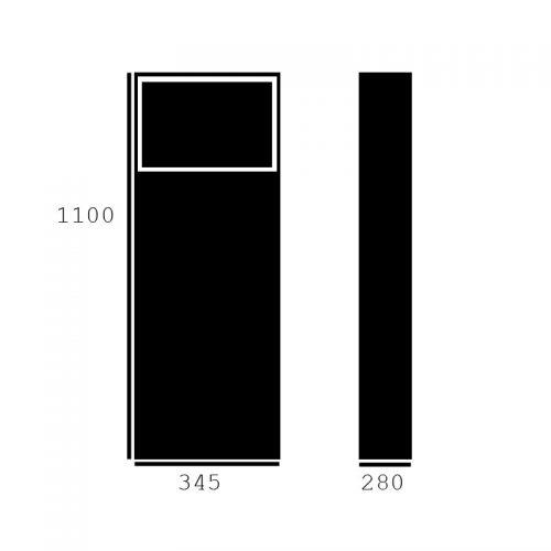 Brievenbus Grundform, zwart