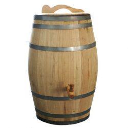 Regenton 100 liter Kastanjehout bruin