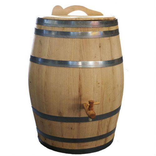 Regenton 150 liter Kastanjehout bruin