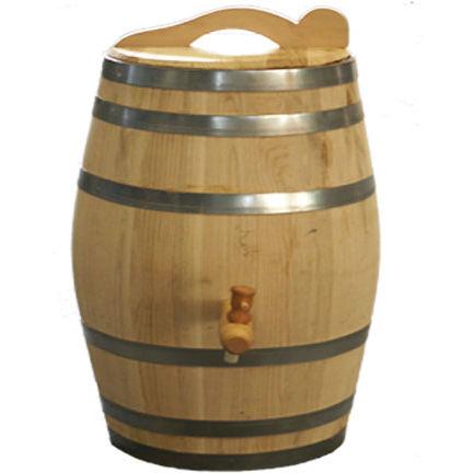 Regenton 50 liter Kastanjehout bruin