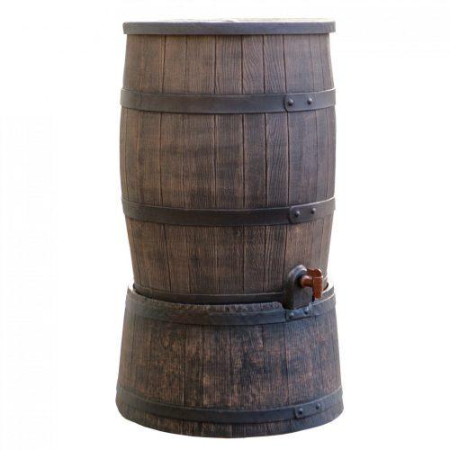 Regenton Roto houtlook 120 liter bruin