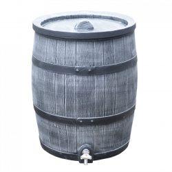 Regenton Roto Houtlook 120 liter grijs