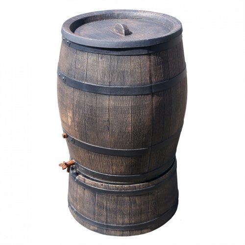 Regenton Roto houtlook 240 liter bruin