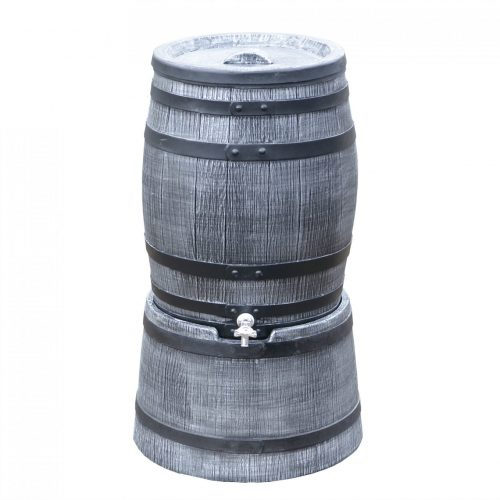 Regenton Roto Houtlook 50 liter grijs