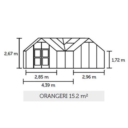Tuinkas Orangery 152, veiligheidsglas