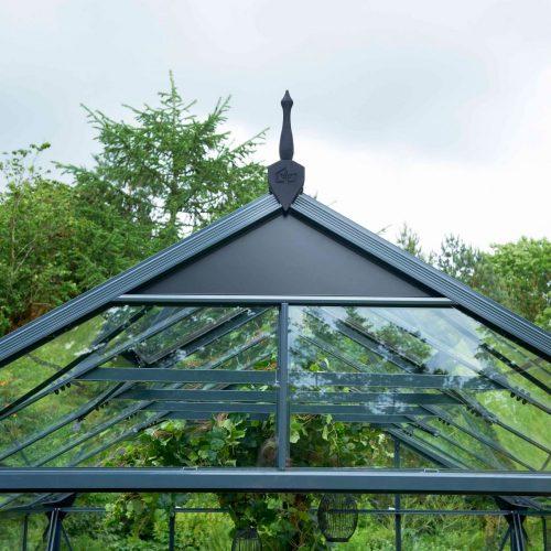 Tuinkas Gardener 161, veiligheidsglas, antraciet