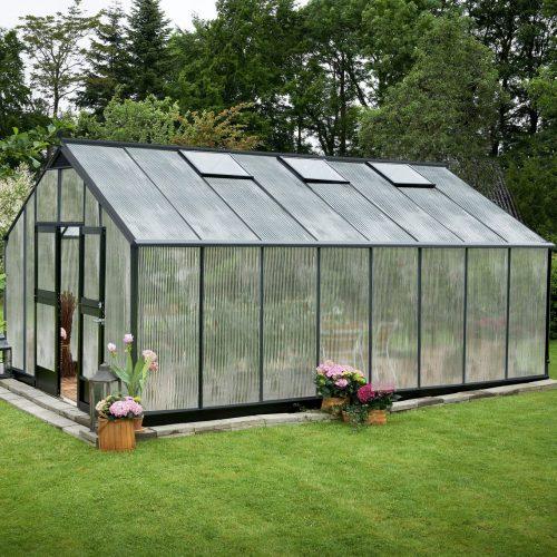 Tuinkas Gardener 214, polycarbonaat, antraciet
