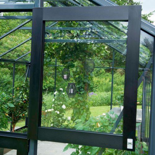 Tuinkas Gardener 214, veiligheidsglas, antraciet