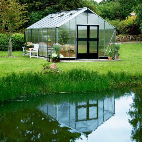 Tuinkas Gardener 214, polycarbonaat meerdere dakramen.