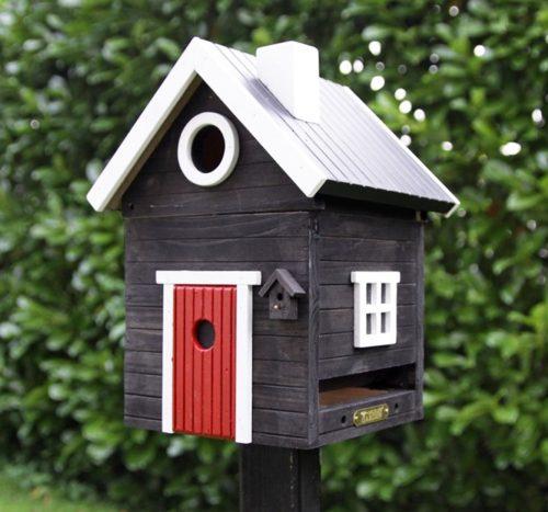 wildlife garden multiholk svart hus